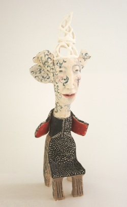 she dreamt of heavenly things - woman as chair series - ceramic sculpture 35 cm h
