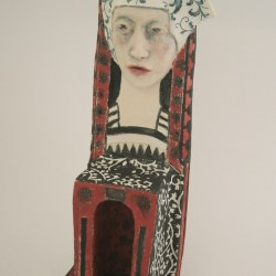 queen of her own domain - woman as chair series - ceramic sculpture 30cm h